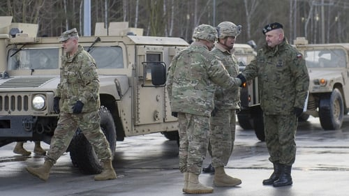 USA tanks and troops arrive in Poland