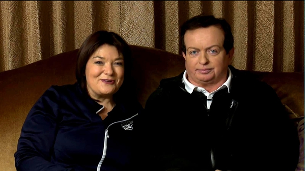 Brenda Donohue and Marty Morrissey