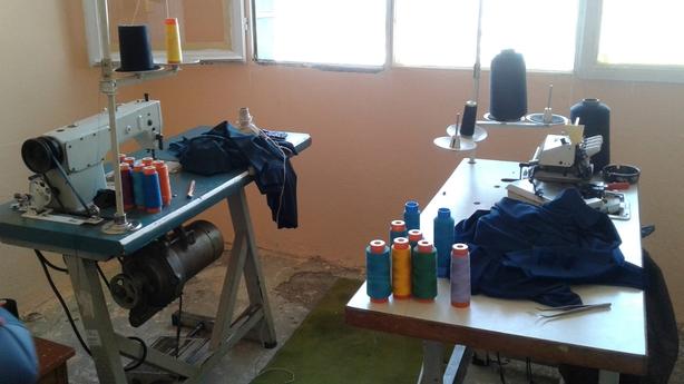 Sewing machine workshop in Izmir, Turkey