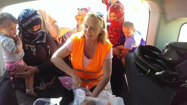 Anne O'Rorke volunteering in Izmir, Turkey