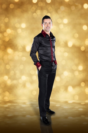 Dancing with the Stars: Aidan O'Mahony - another dancing classic, the sleek, black satin look.