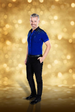 Dancing with the Stars: Des Bishop does the nigh impossible and makes this sequinsed number look cool.