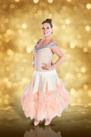 Dancing with the Stars: Katherine Lynch is another great feathered frock.