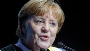 Angela Merkel was addressing students in Brussels