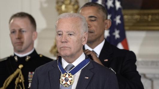 Joe Biden surprised by Medal of Honour award