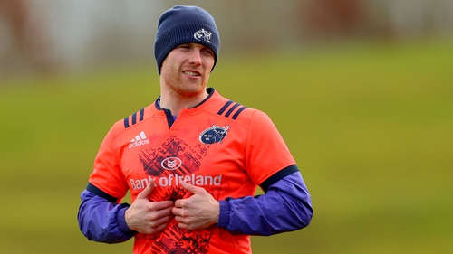 Keith Earls is set to make his 51st European appearance for Munster