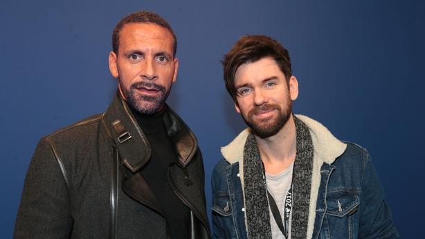 Rio Ferdinand and Eoghan McDermott