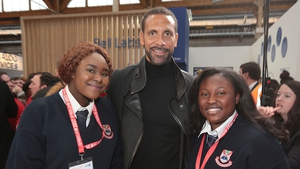 Students meet Rio Ferdinand at BTYSE 2017