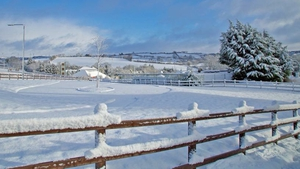 Snow in Bailieborough, Co Cavan (Pic: Martin Sheridan)