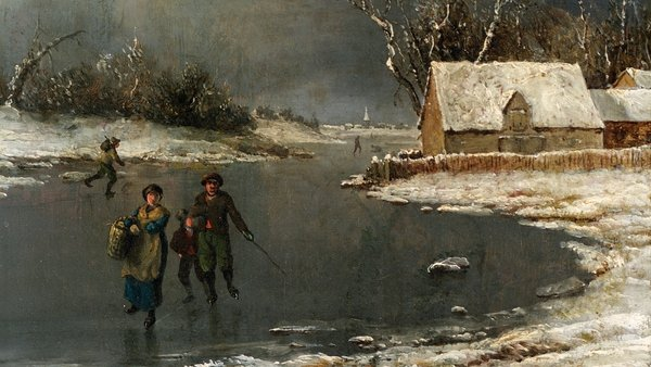 Detail from James Arthur O'Connor's A Frost Piece (undated). from the National Gallery of Ireland Collection - Photo © National Gallery of Ireland
