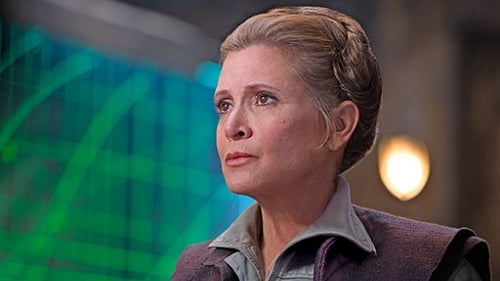 The late Carrie Fisher in 2015's Star Wars: The Force Awakens