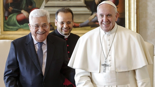 Palestinian President Mahmoud Abbas and Pope Francis discussed the Middle East situation