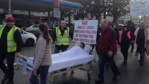 Protesters are calling for action to increase bed capacity at University Hospital Limerick