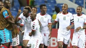 Burkina Faso's players celebrate