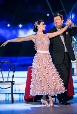 Week 1: Des Cahill may have been out shone by Karen Byrne's drop dead gorgeous dress.