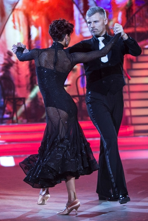 Week 1: Des Bishop shows off his 'tango face' and Giulia Dotta's dress? Wow.