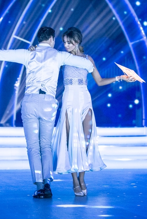 Week 2: Thalia brings star power to the stage and her dress only added to the impressive performance.