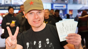 Lucky Dave Griffiths, who has seen the band play 30 times, secured his tickets this morning