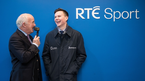 Ted Walsh and Joseph O'Brien at the announcement of the new agreement between RTÉ Sport and BoyleSports