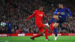 Joel Matip in action against Manchester United earlier this season