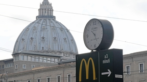 The fast food chain opened a new branch around 200 meters from St Peter's Square last month