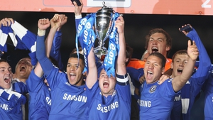Conor Clifford lifts the FA Youth Cup for Chelsea in 2010