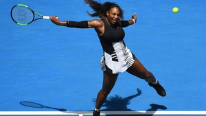 Serena Williams won in straight sets