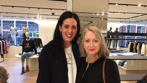Brown Thomas' Shelly Corkery with Bairbre Power, Fashion Editor of the Irish Independent
