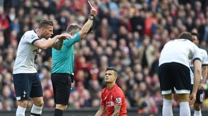 Liverpool's Philippe Coutinho was booked for diving against Spurs