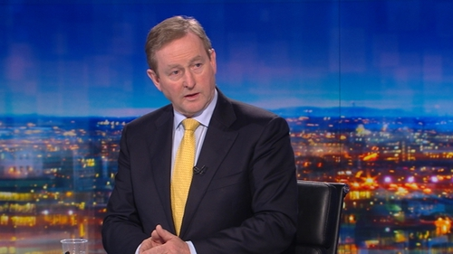 Enda Kenny said that there will be no return to the 'hard border' in the North