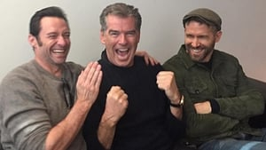 Hugh Jackman, Pierce Brosnan and Ryan Reynolds, image via Instagram
