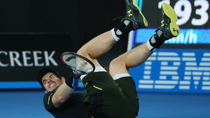 Andy Murray in action on day three of the Australian Open