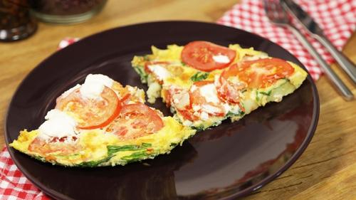 OP TRANS WEEK 2 DAY 4: Ricotta & Tomato Frittata.