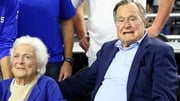George HW Bush and his wife Barbara pictured in March 2015