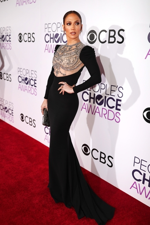 Jennifer Lopez slayed in her Reem Acra gown before going on to win her first PCA, after six nominations, for Favorite Crime Drama TV Actress for her role Shades of Blue. Go J-Lo!