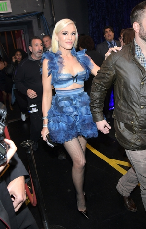 Gwen Stefani went for an unusual crop top and mini but no doubt about it, she hasn't aged since her No Doubt days