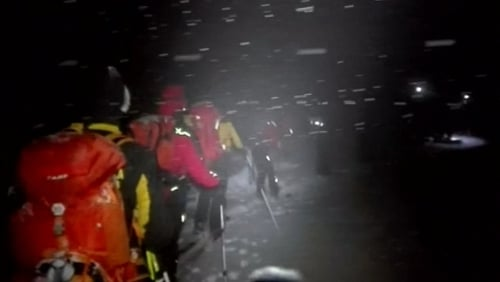 Media reports said there had been around 30 guests and staff at the small ski hotel