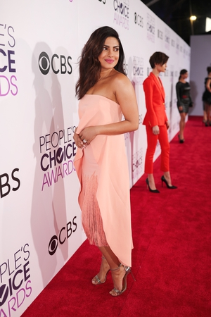 Quantico actress Priyanka Chopra won over red carpet critics with this Sally LaPointe creation before winning her second PCA award