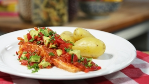 OT: Salmon with Avocado Salsa