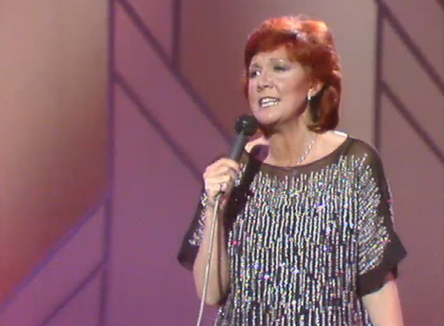 Cilla Black performs on The Late Late Show in 1982