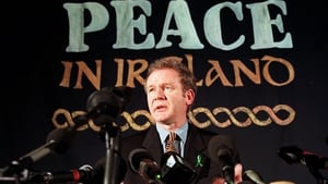 McGuinness answers question during a press conference in London on 26 February 1998
