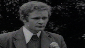 An undated image of McGuinness at a Wolfe Tone Commemoration ceremony