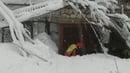 Rescue operations at hotel Rigopiano after it was hit by an avalanche in Farindola
