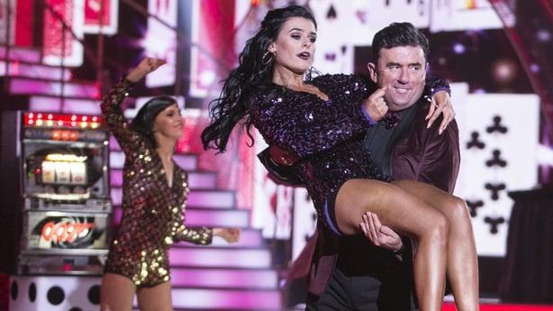Des Cahill with his dancing partner Karen Byrne