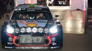 New Zealand driver Hayden Paddon and co-driver John Kennard at the start of the 85th Monte Carlo Rally