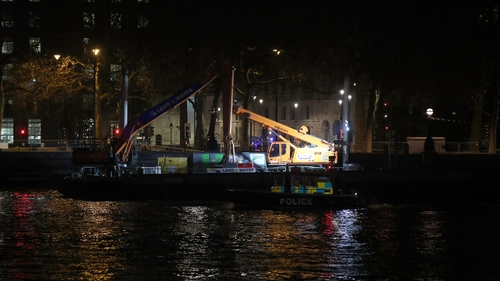 The riverfront remained closed until around 3am this morning as the device was removed