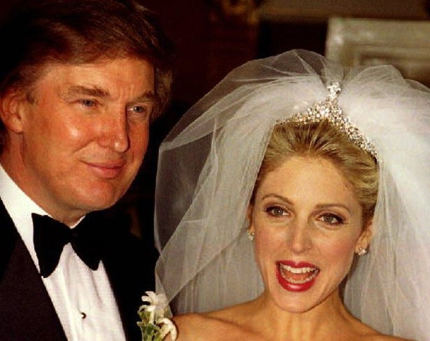 Donald Trump and Marles Maple on their wedding day in 1993
