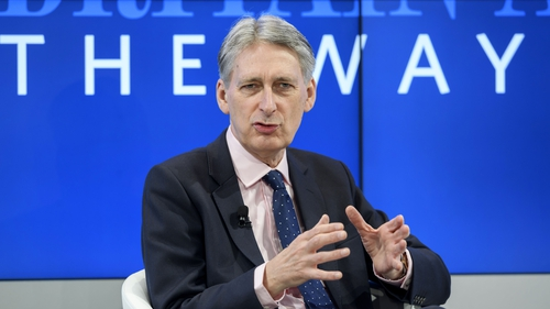 British Finance Minister Philip Hammond is in Washington for the IMF and World Bank Spring meetings