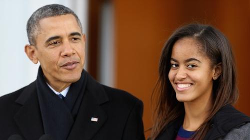 Barack Obama with his eldest daughter Malia