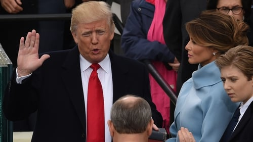 On 20 January 2017, Donald Trump was sworn in as the 45th President of the United States